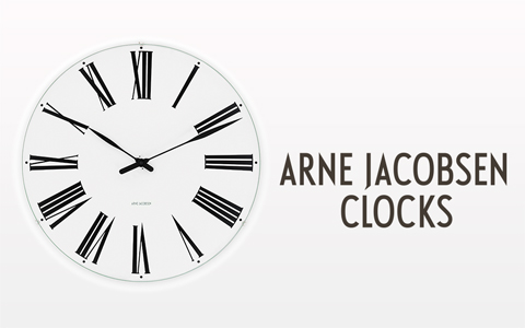 Arne Jacobsen Clocks 2018 480X300px